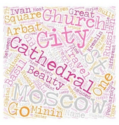 Moscow tour overview text background wordcloud vector