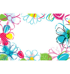 Spring season banner template background with vector