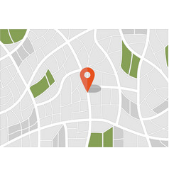 2d travel and navigation planning pin with map vector image