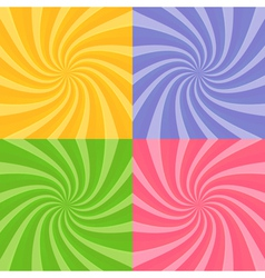 Set of swirly sunbursts vector