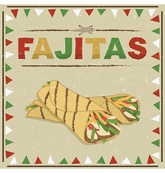 Mexican fajitas vector