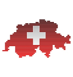 Map and flag of switzerland vector