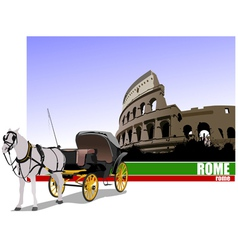 6229 rome trip vector image