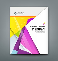 Cover annual report abstract material geometric vector