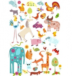 wild animals vector image