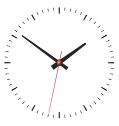 Simple classic clock on white vector