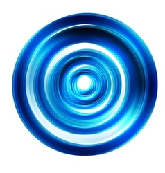 Abstract circle blue curve vector