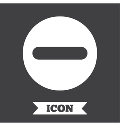 Minus sign icon negative symbol vector