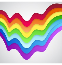 Abstract colorful rainbow background vector