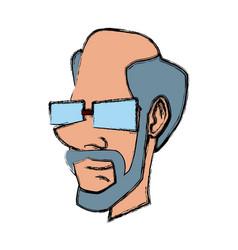Adult man face vector