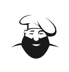 Bearded chef in toque vector image vector image