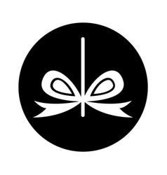 bow with ribbon isolated icon vector image vector image
