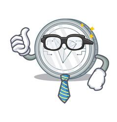 Businessman tron coin character cartoon vector