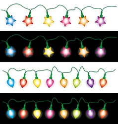 christmas light lamps vector image vector image