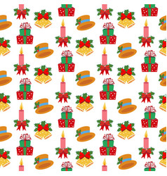 christmas ornaments pattern vector image vector image