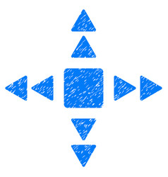 Direction triangles grunge icon vector