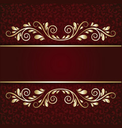 elegant background with lace ornament and place vector image vector image