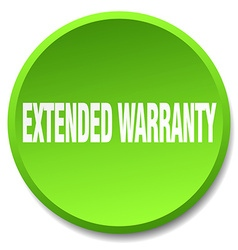 extended warranty green round flat isolated push vector image vector image