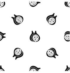 Fig fruit pattern seamless black vector