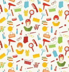 Girls stuff pattern resize vector