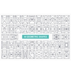 grectangle shapes vector image vector image