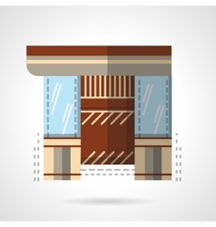Jewelry shop storefront flat icon vector