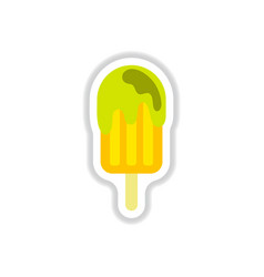 label icon on design sticker collection ice cream vector image