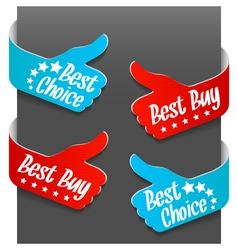 left and right side signs - best buy vector image vector image