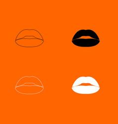 Lipstick or lips icon vector