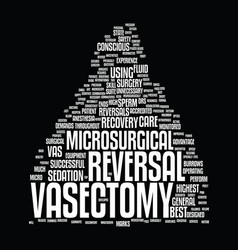 Microsurgical vasectomy reversal text background vector