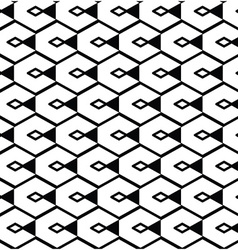 Monochrome geometric art seamless pattern mosaic vector image vector image