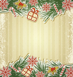 new retro background with tree branches and eating vector image vector image