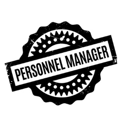 Personnel manager rubber stamp vector