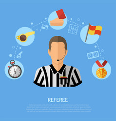 Soccer flat icon concept vector