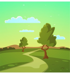 Summer Cartoon Landscape vector image vector image