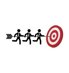 Target dartboard goal vector image