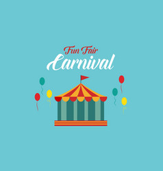 The carnival funfair background style vector