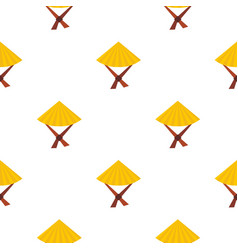 vietnamese hat pattern seamless vector image vector image
