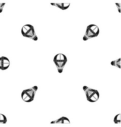 Vintage hot air balloon pattern seamless black vector