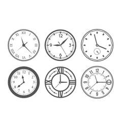 Wall clock set vector image vector image