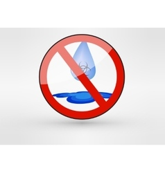 Water drop biohazard pollution theme vector