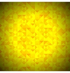 Yellow Background with Geometric Triangles vector image