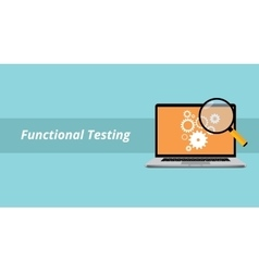 Functional testing with notebook or laptop with vector