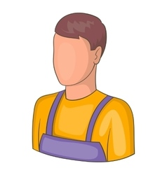 Warehouse worker icon cartoon style vector