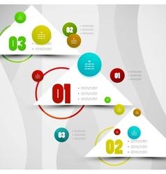Infographics modern design template vector image