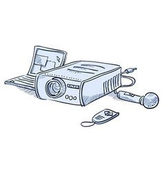 Presentation projector vector