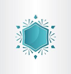 snowflake window abstract design vector image