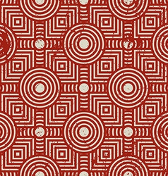 Old geometric seamless pattern vintage repeat vector