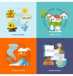 Natural disaster flat vector