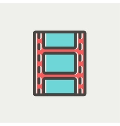 Filmstrip with image thin line icon vector